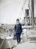 George Sverdrup on a Ship, 1905.