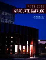Augsburg University Graduate Catalog, 2018-2019