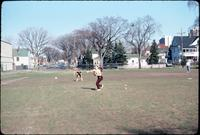 Softball practice at the Augsburg Athletics Field, 1978