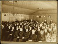 Chapel service in Old Main (1872-1948), 1897.