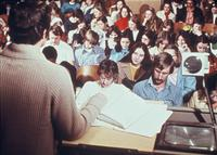 Students listening to a lecture, circa 1976