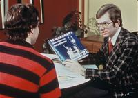 Associate Dean Rick Thoni counseling a student, circa 1976