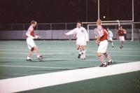 Chad Bednarek dribbles against three defenders, 1996.