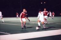 Eric Roy dribbles an opponent, 1996.