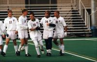 Connor Tobin and teammates celebrate , 1997.
