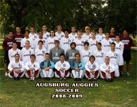 Augsburg men's soccer team, 2008-2009.