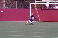 An Augsburg Goalkeeper takes a goal kick, 2001.