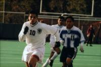 Mourad Drira runs after the ball, 1997.