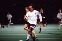 Anders Hiemvik runs with the ball, 1994.