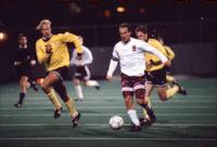 Anders Hiemvik attacks with the ball, 1994.