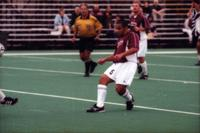 Hugo Quintiliano shoots the ball, 2000.