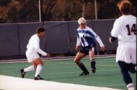 Eric Roy passes the ball, 1997.