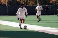 Houssem Trigui drives forward with the ball, 1997.