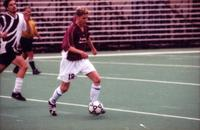 Scott Lepper dribbles a defender, 2000.