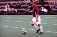 Jason Betsinger has the ball in the midfield, 2000.