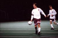 Anders Hiemvik gets a touch on the ball, 1994.