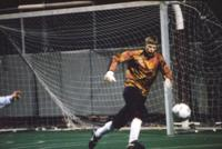 Goalkeeper Eric Stevens runs after a ball, 1994.