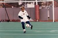 Eric Giving traps the ball, 1997.