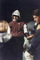 Coach Gary Dahle discuses tactics, 1994.