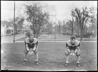 Augsburg football players posing in Murphy Square, 1926