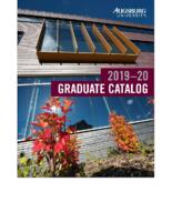 Augsburg University Graduate Catalog, 2019-2020