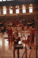 Gymnastics competition, February 1975