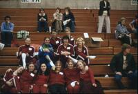 Augsburg women's gymnastics team posing for a photo, April 1976