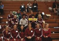 The full Augsburg Gymnastics team posing for a photo, April 1976