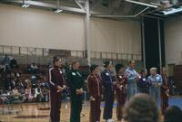 Minnesota state Gymnastics meet award ceremony, April 1976