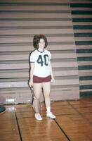 An Augsburg women's tennis team player, April 1975