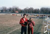 Augsburg women's track and field team meet, April 1975