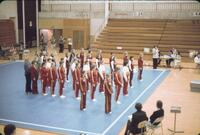 Competing Gymnastics Teams lined up, February 1977