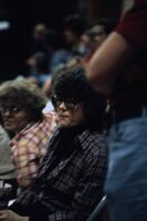 Photo of an Augsburg related person with thick rimmed glasses, November 1978