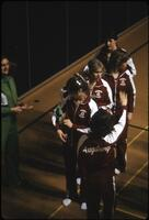 Augsburg women's basketball team lined up, March 1979