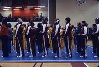 Augsburg Women's gymnastics team line up, March 1978