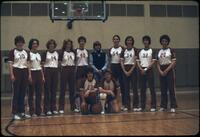 Augsburg women's basketball team lined up for a photo, March 1979