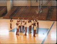 Augsburg women's basketball team at a practice, February 1978