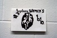 Photo of the Augsburg women's basketball team logo, circa 1979