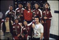Women's gymnastics team posing for a photo, March 1978