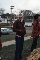 Augsburg women's track and field team supporters, May 1981.