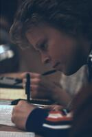A woman writes in a log book, February 1983