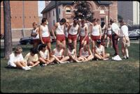 Augsburg track team take a group picture, 1986.