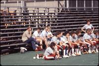 Augsburg women's softball team bench, 1985.
