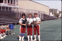 Augsburg women's softball team players, 1985.