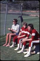 Augsburg women's softball team coach and players, 1985.