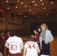 Augsburg women's basketball team players and coaches, 1984.