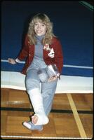 An Augsburg women's gymnastics team member, 1984.