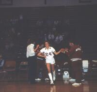 An Augsburg women's basketball team player, 1984.