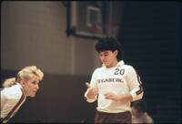 Augsburg women's volleyball player with curly black hair, 1987