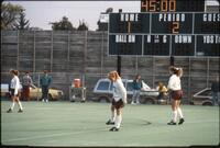 An Augsburg women's soccer team player in the midfield, 1990.